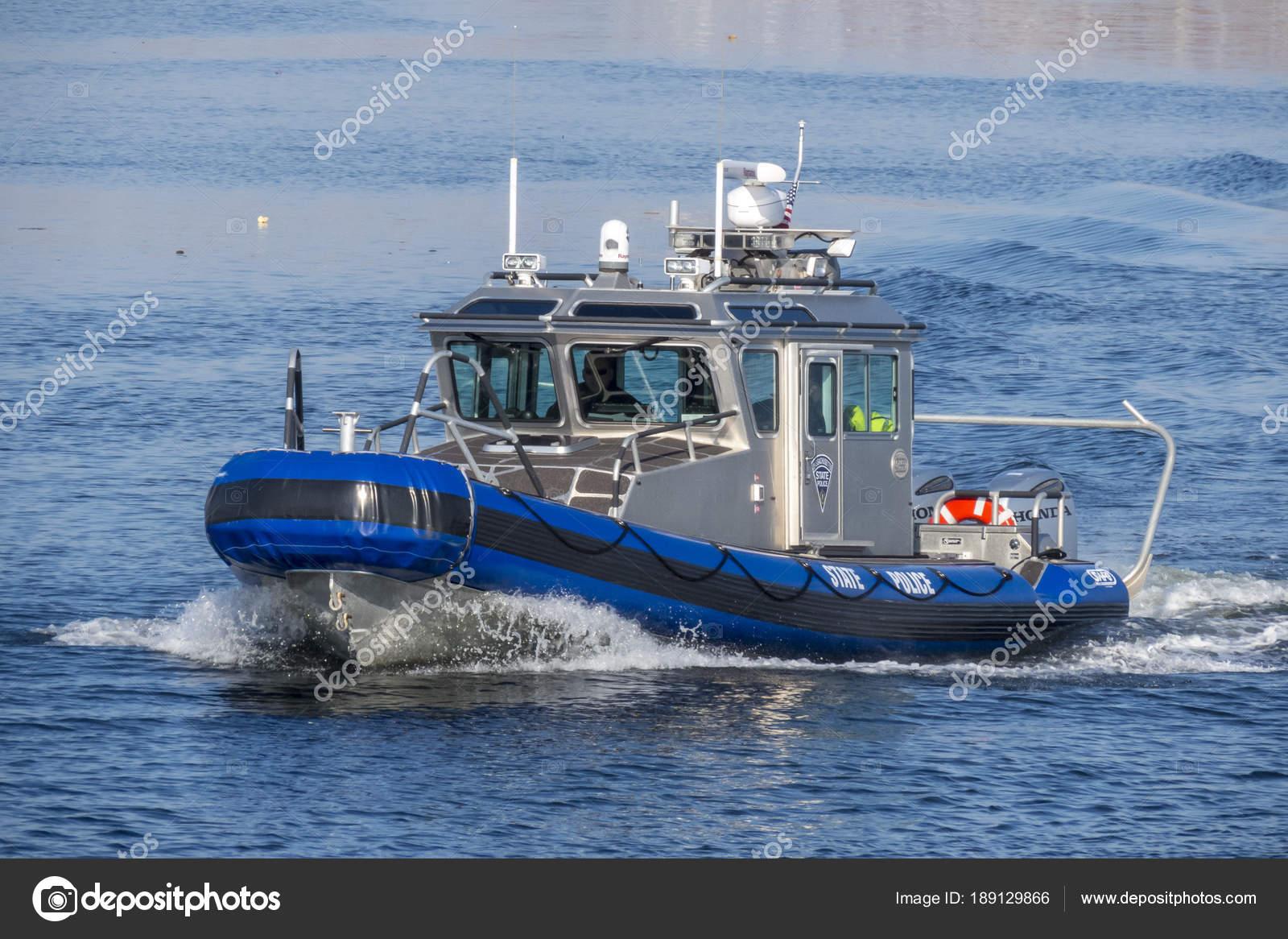 Massachusetts State Police patrol boat – Stock Editorial Photo