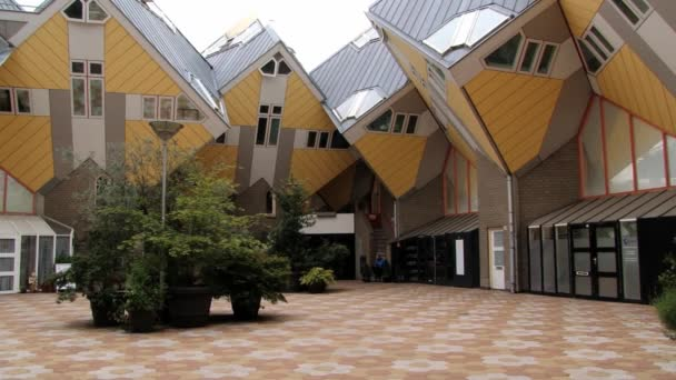 Exterior of the famous cube houses in Rotterdam, Netherlands.