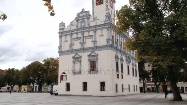 Vnější část radnice budova v Helmno, Polsko.