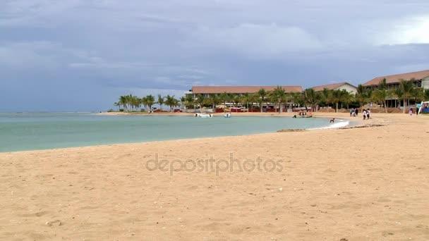View to the sandy beach in Trincomalee, Sri Lanka.