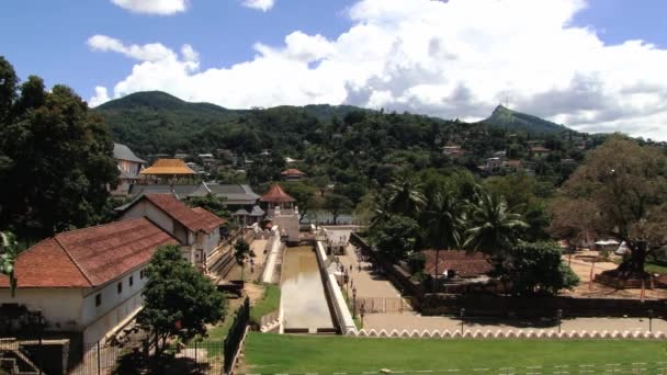 View to the Temple of Tooth (Dalada Maligava) in Kandy, Sri Lanka. Its one of the most famous landmarks of Sri Lanka containing relic of Buddha.