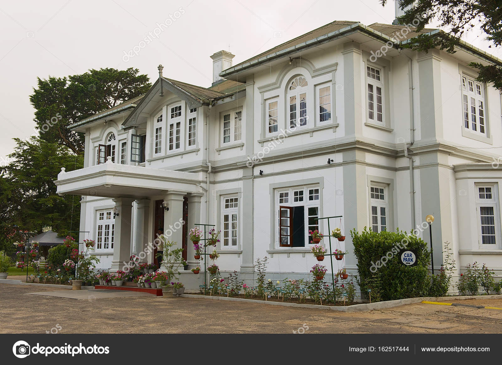 Colonial Architecture Building In Nuwara Eliya Sri Lanka Stock