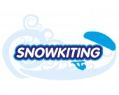 Fotografie Vector sticker snowkiting
