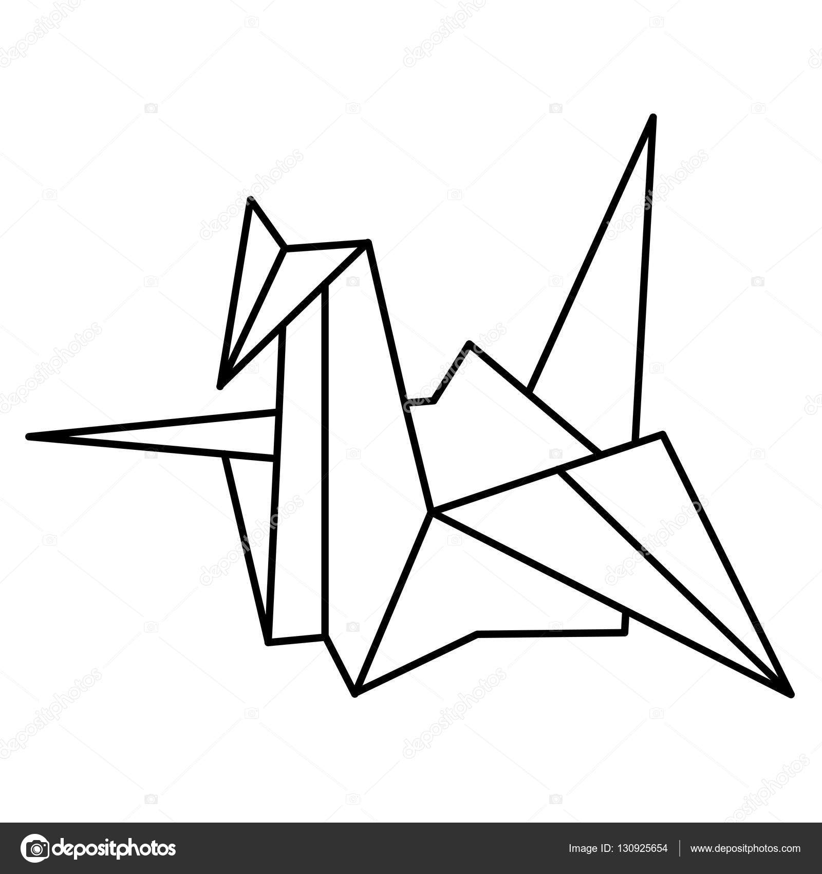 Vector illustration japanese paper cranes stock vector traditional japanese symbol of peace advertisements signs stickers web banners signage isolated on a white background vector by samorodinov biocorpaavc Gallery