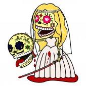 Fotografie Vector illustration of skeletons