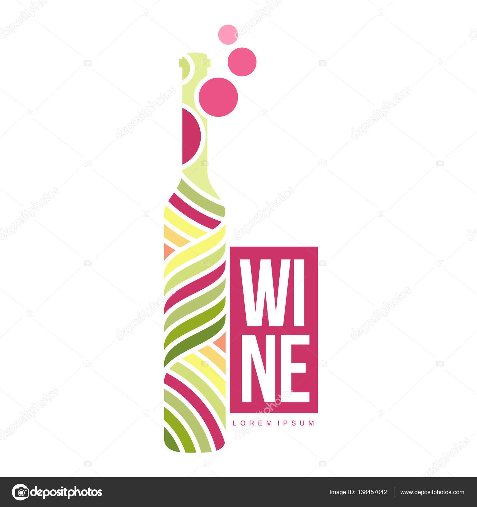 Wein-Logo-Vorlagen — Stockvektor © samorodinov #138457042