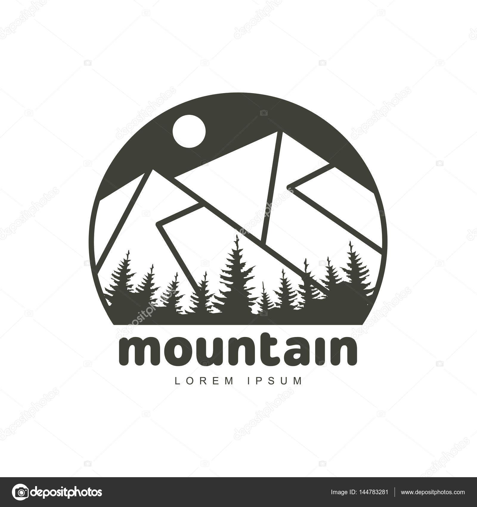 Plantillas de logotipo de montañas — Archivo Imágenes Vectoriales ...