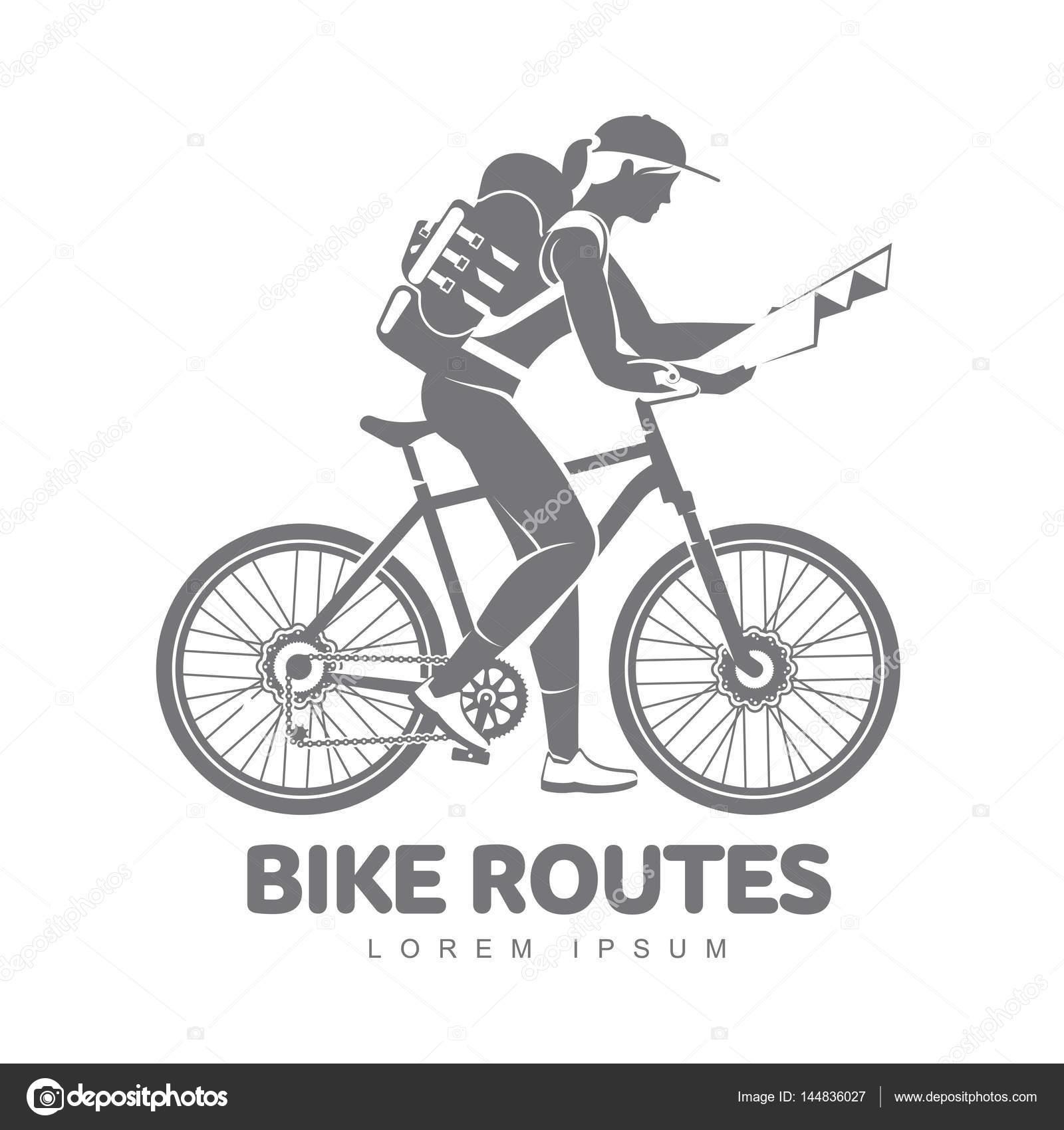 bicycle travel vector logo template stock vector samorodinov