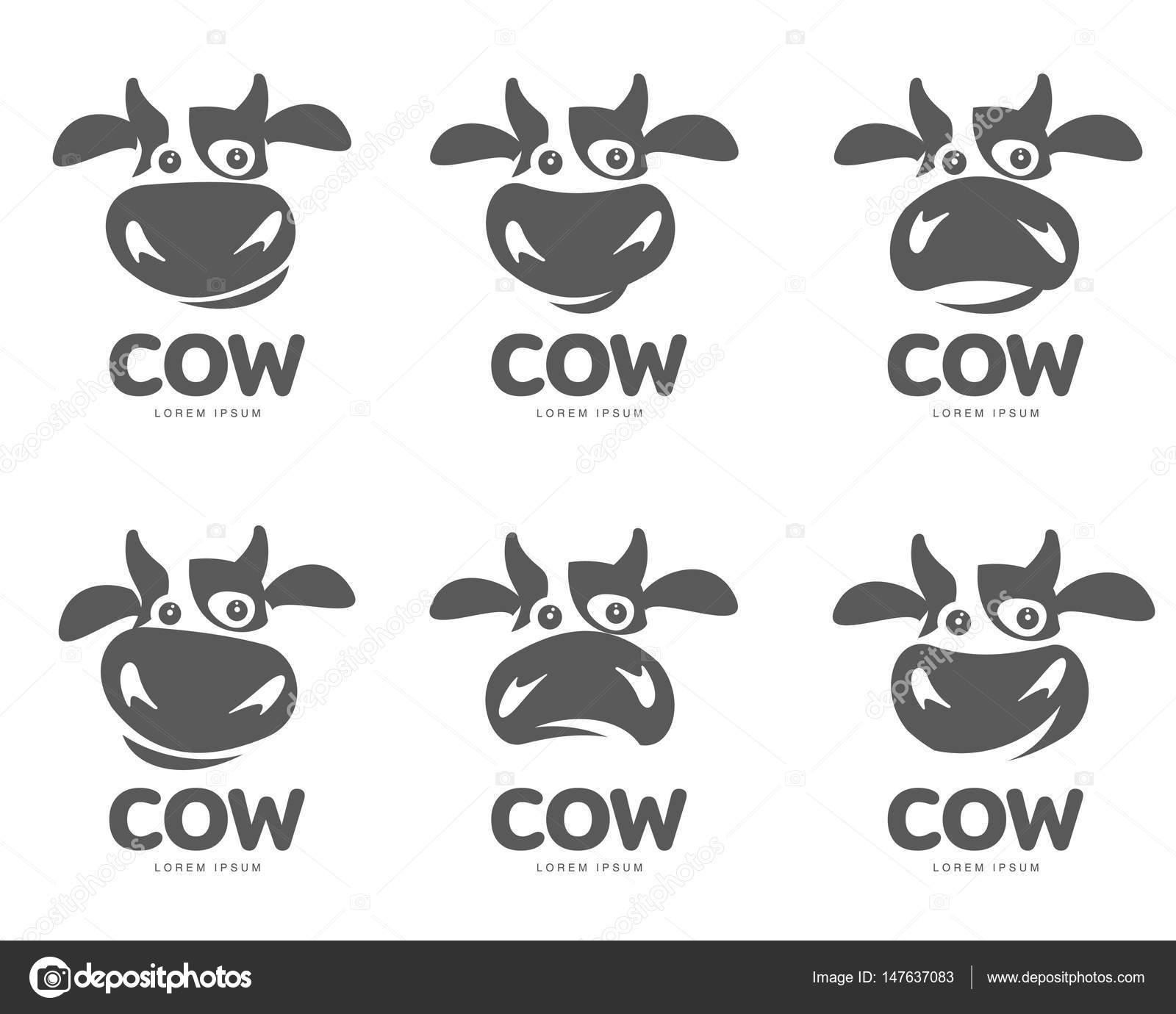 cow logo template stock vector samorodinov 147637083