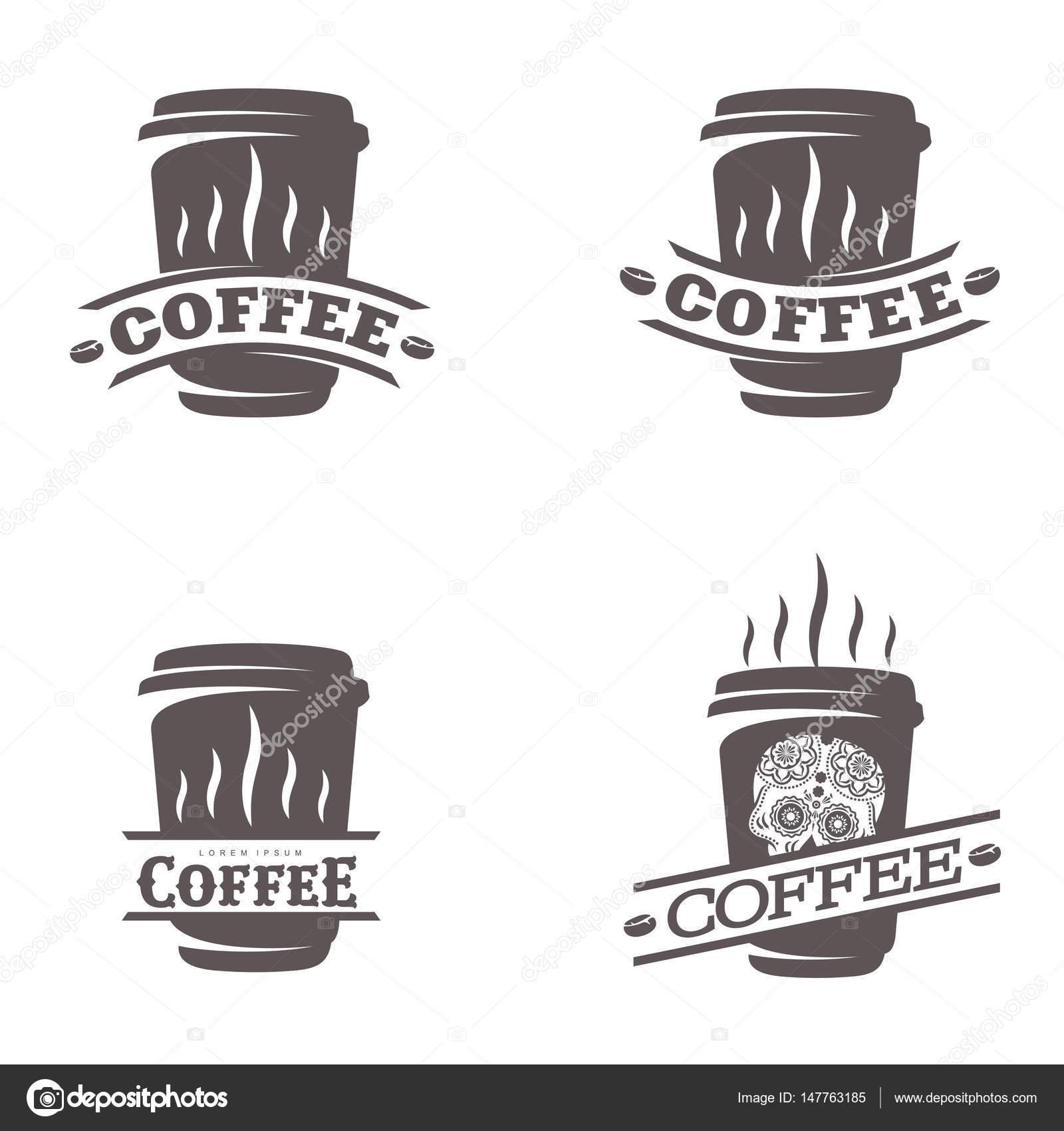 Kaffee-Logo-Vorlagen — Stockvektor © samorodinov #147763185