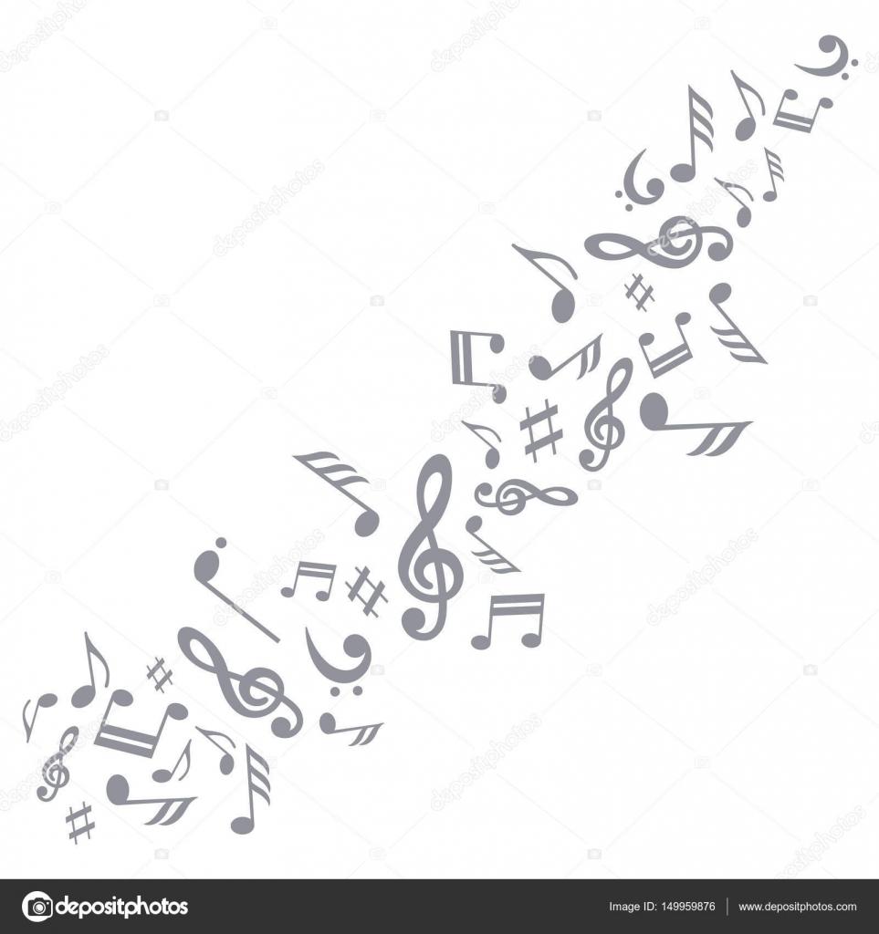 Swirl Of Musical Symbols Stock Vector Samorodinov 149959876