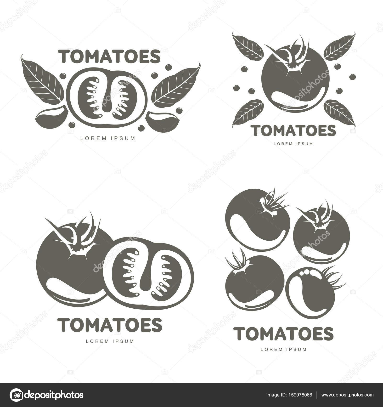 Ilustración de plantillas de logotipo de tomates — Vector de stock ...