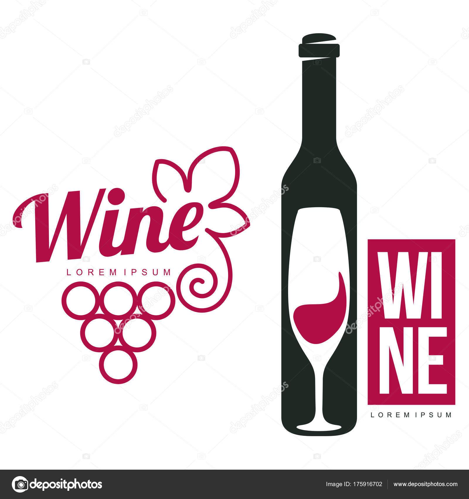 Wein-Logo-Vorlagen — Stockvektor © samorodinov #175916702