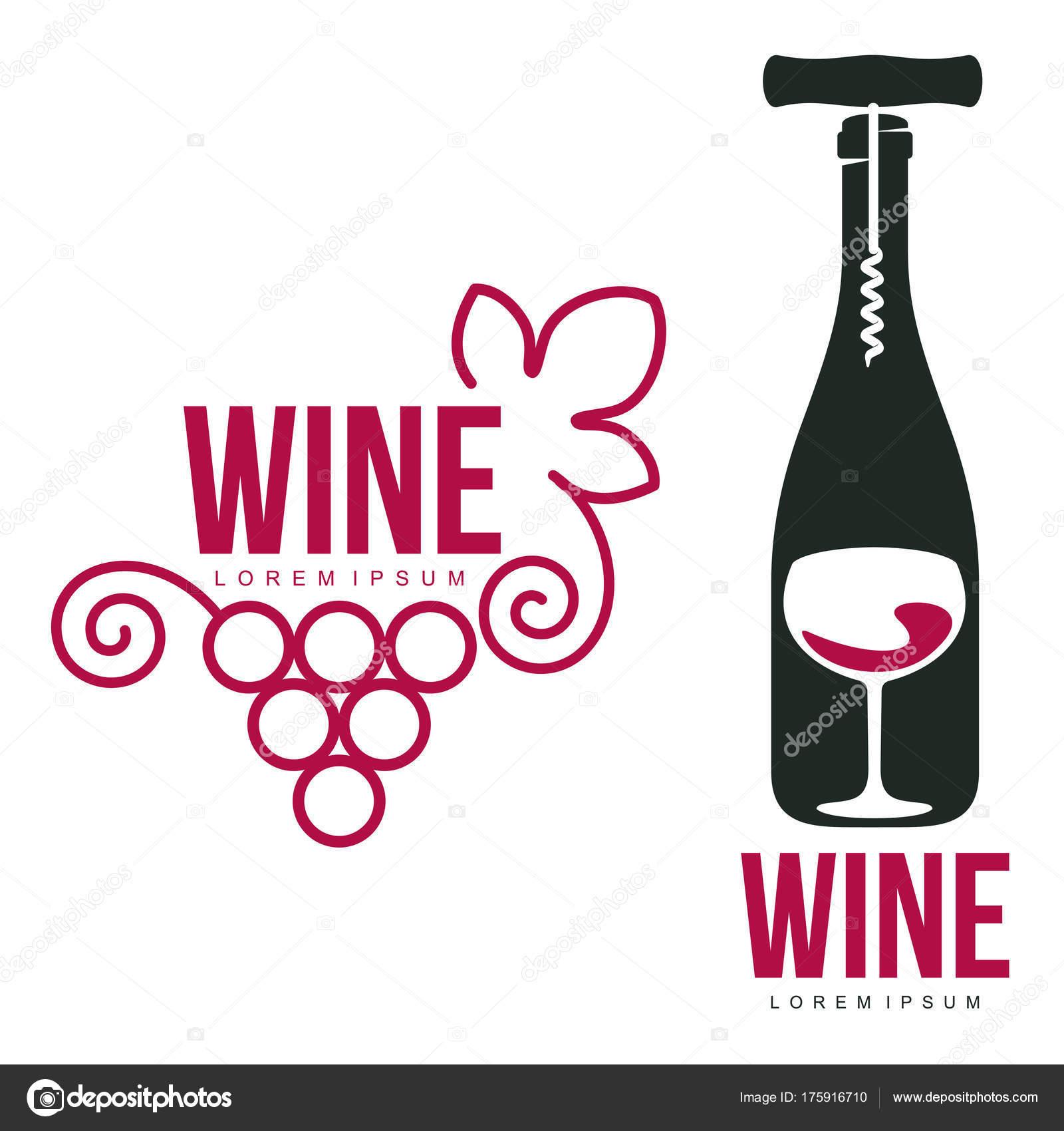 Wein-Logo-Vorlagen — Stockvektor © samorodinov #175916710