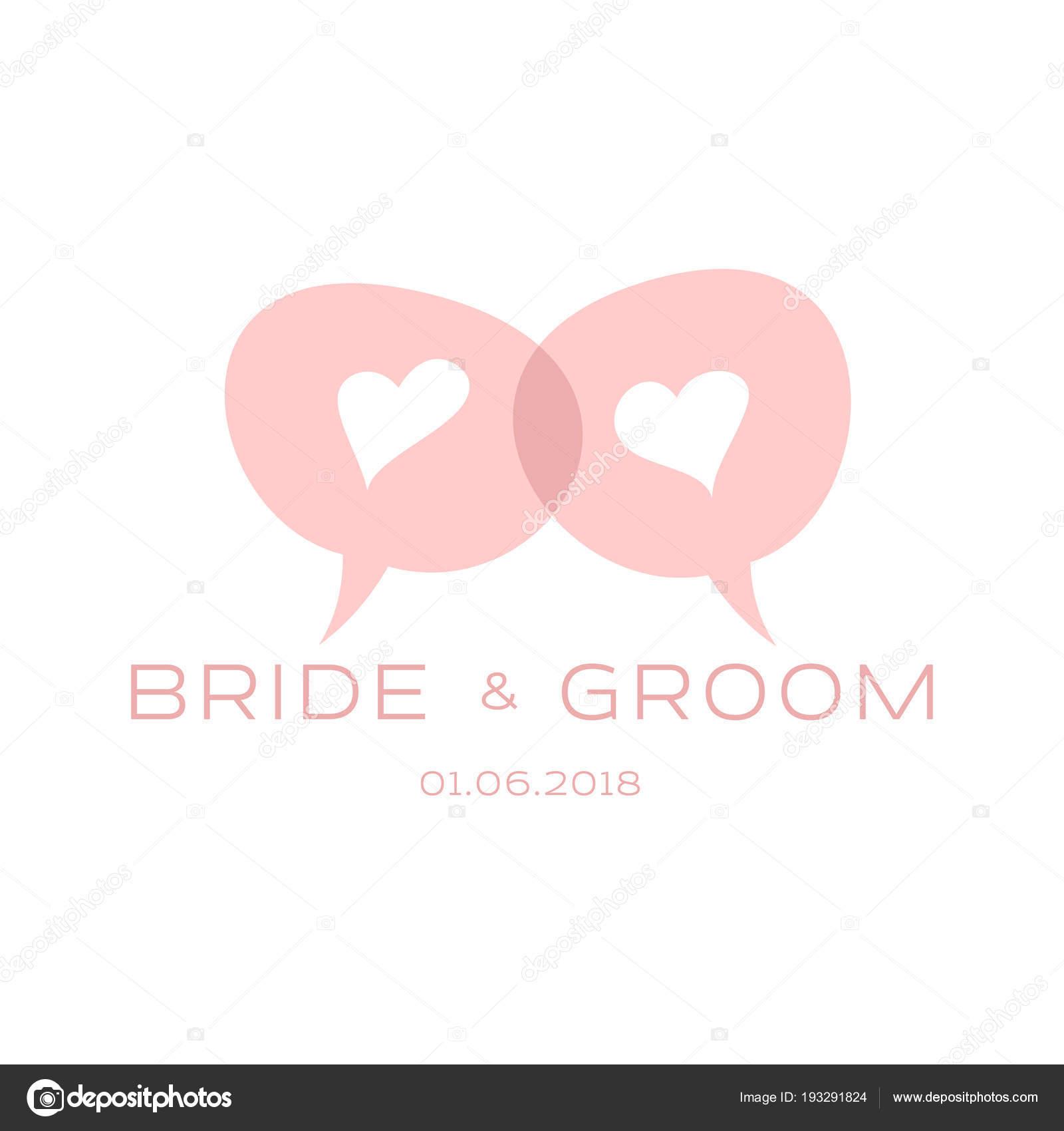 Elegante Design Vorlagen Fur Hochzeitskarte Logo Fur Geschaft