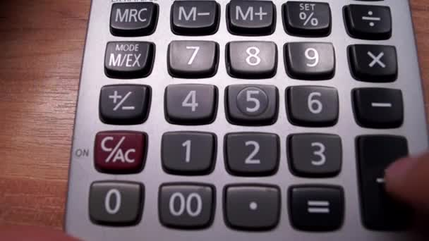 a Calculator Analyzing a Business Project.