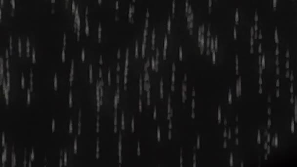 Bílé kapky pád na scénu a vypadají jako holografický obraz