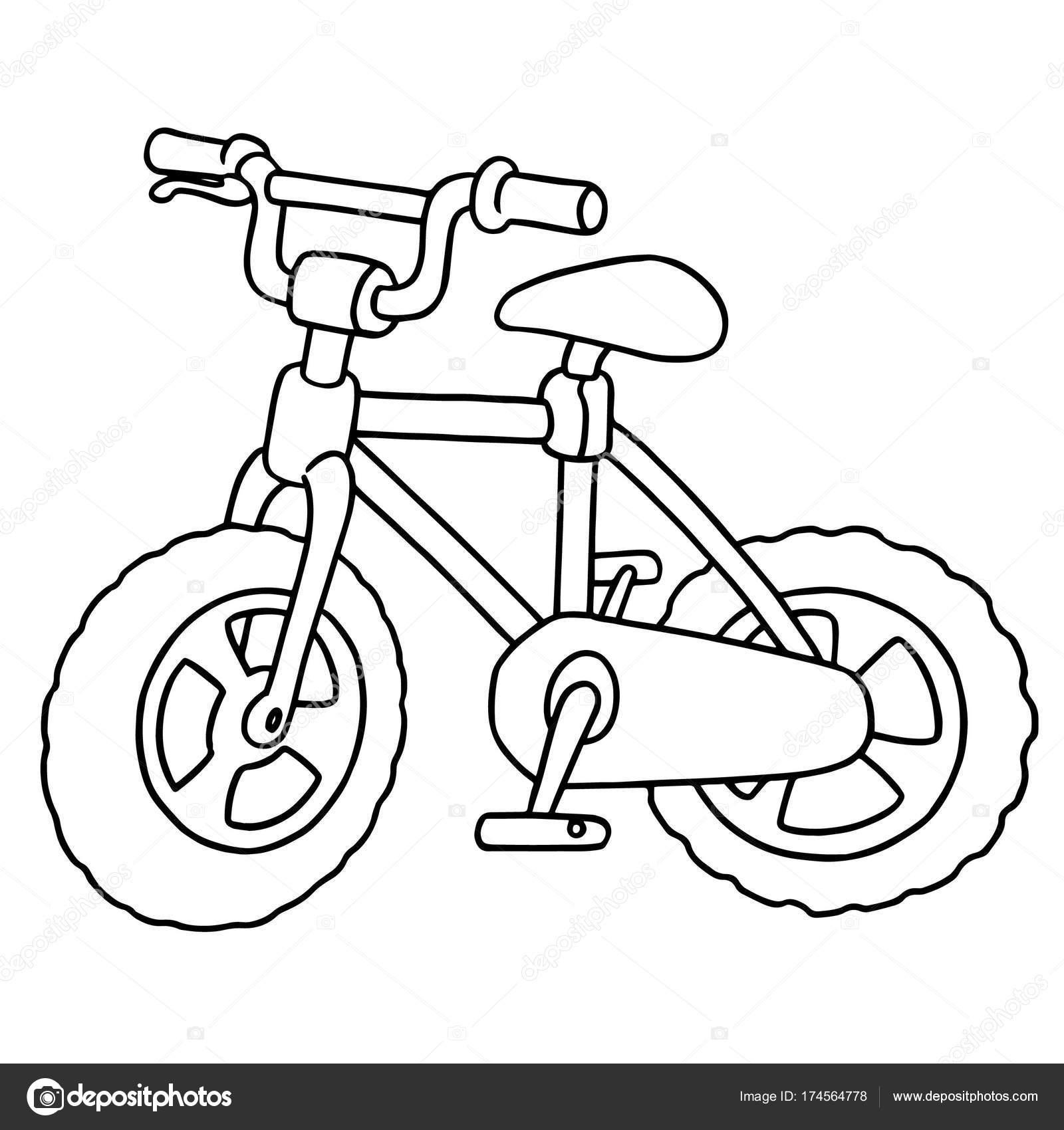 Vektorove Ilustrace Kreslene Kolo Na Bilem Pozadi Stock Vektor