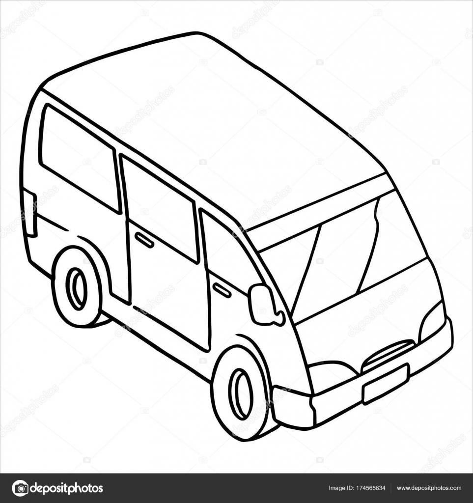 ilustra u00e7 u00e3o em vetor de cartoon van no fundo branco  u2014 vetores de stock  u00a9 foxynguyen  174565834