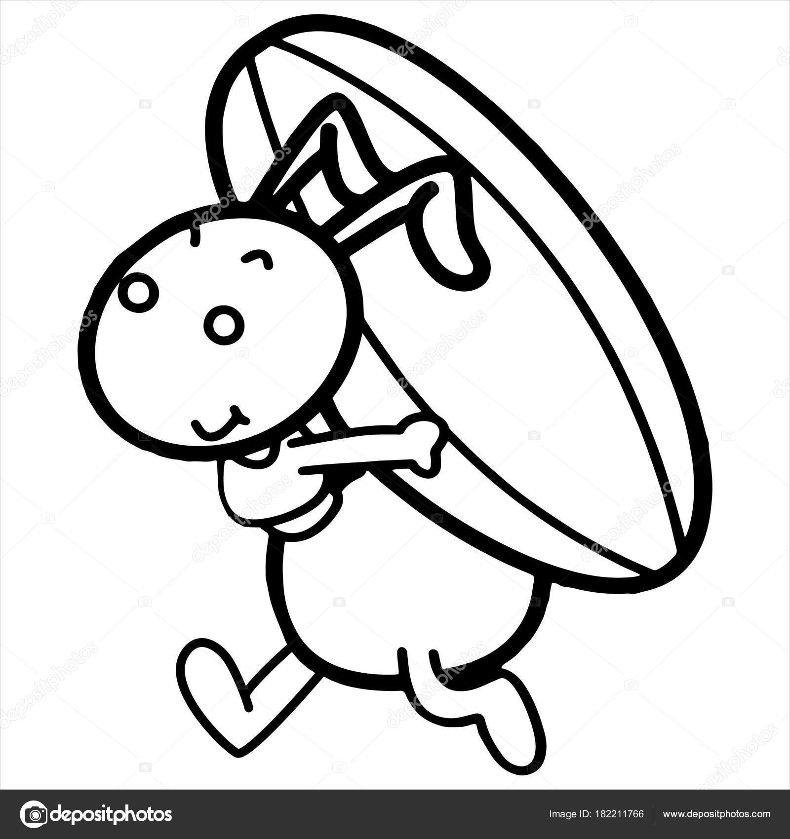 Impresiones Hormiga Dibujos Animados Sobre Fondo Blanco Para Los ...