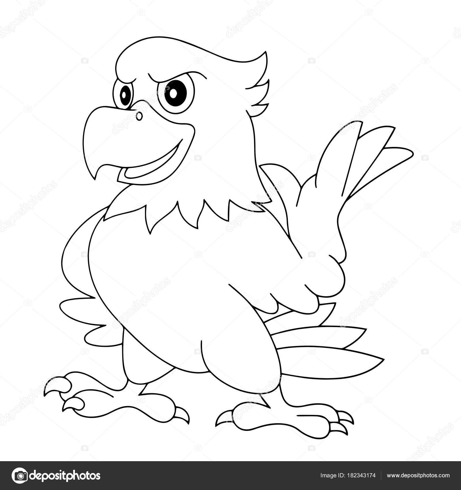 Animado Aguila Para Colorear Impresiones águila Dibujos