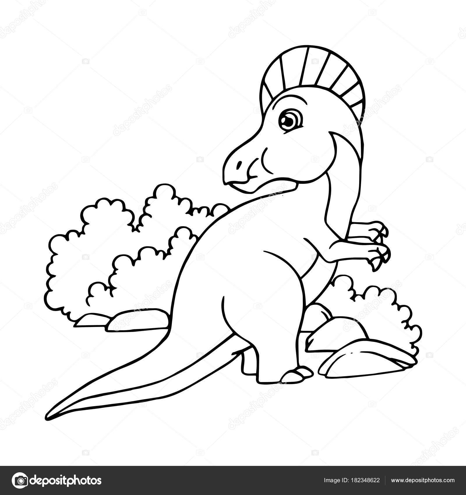 Impresiones Velociraptor Dibujos Animados Sobre Fondo Blanco Para ...