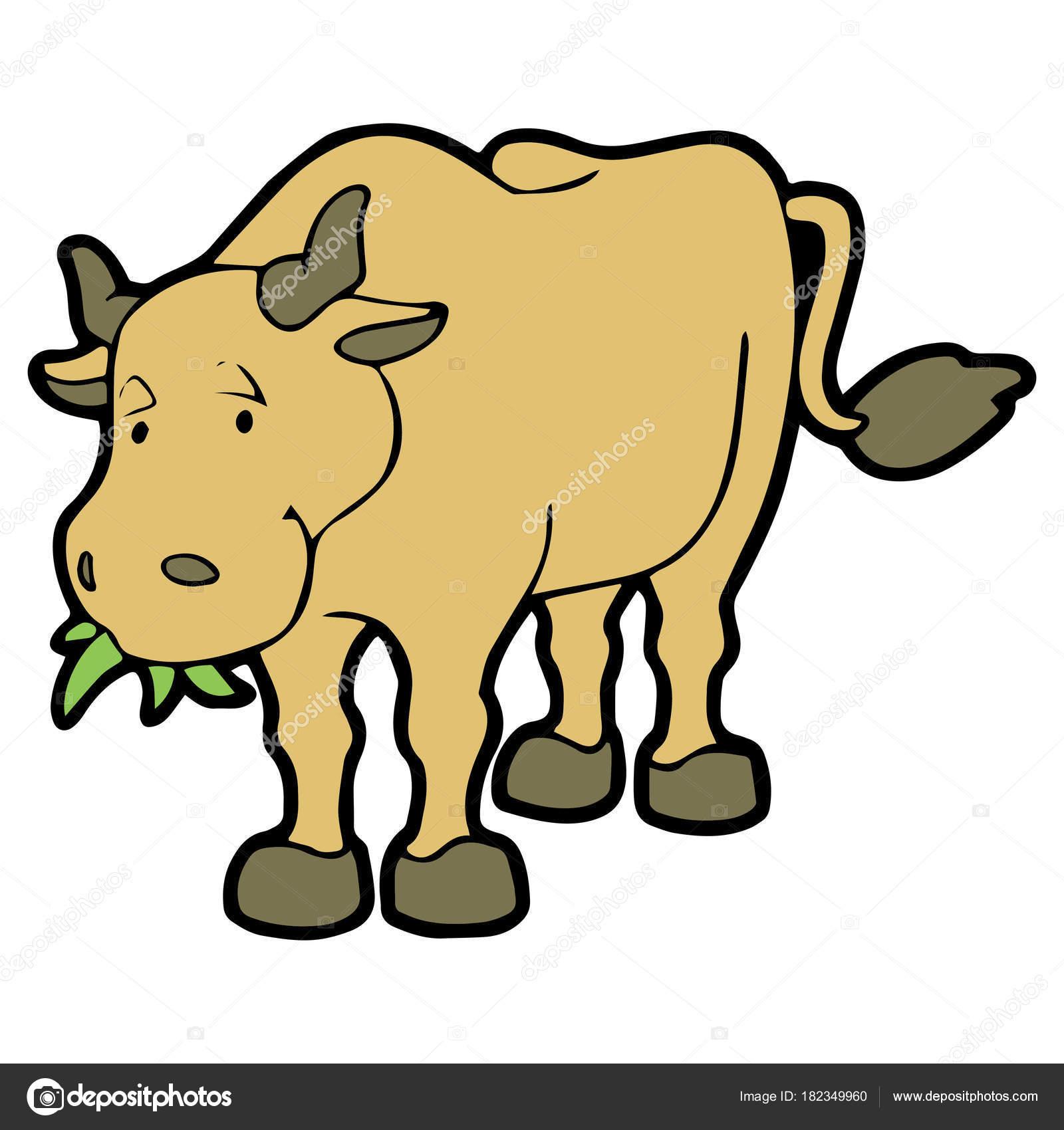 Imprime Vache Dessin Anime Mignon Sur Fond Blanc Pour Enfants