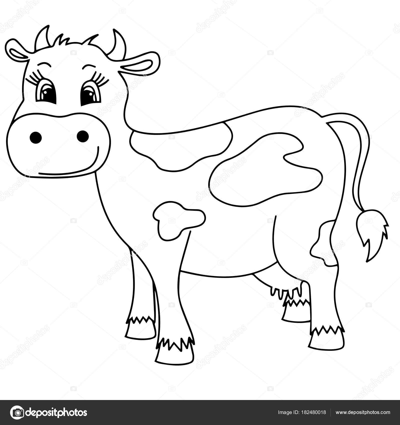 Imágenes Silueta Vacas Para Colorear Estampados Vaca Dibujos