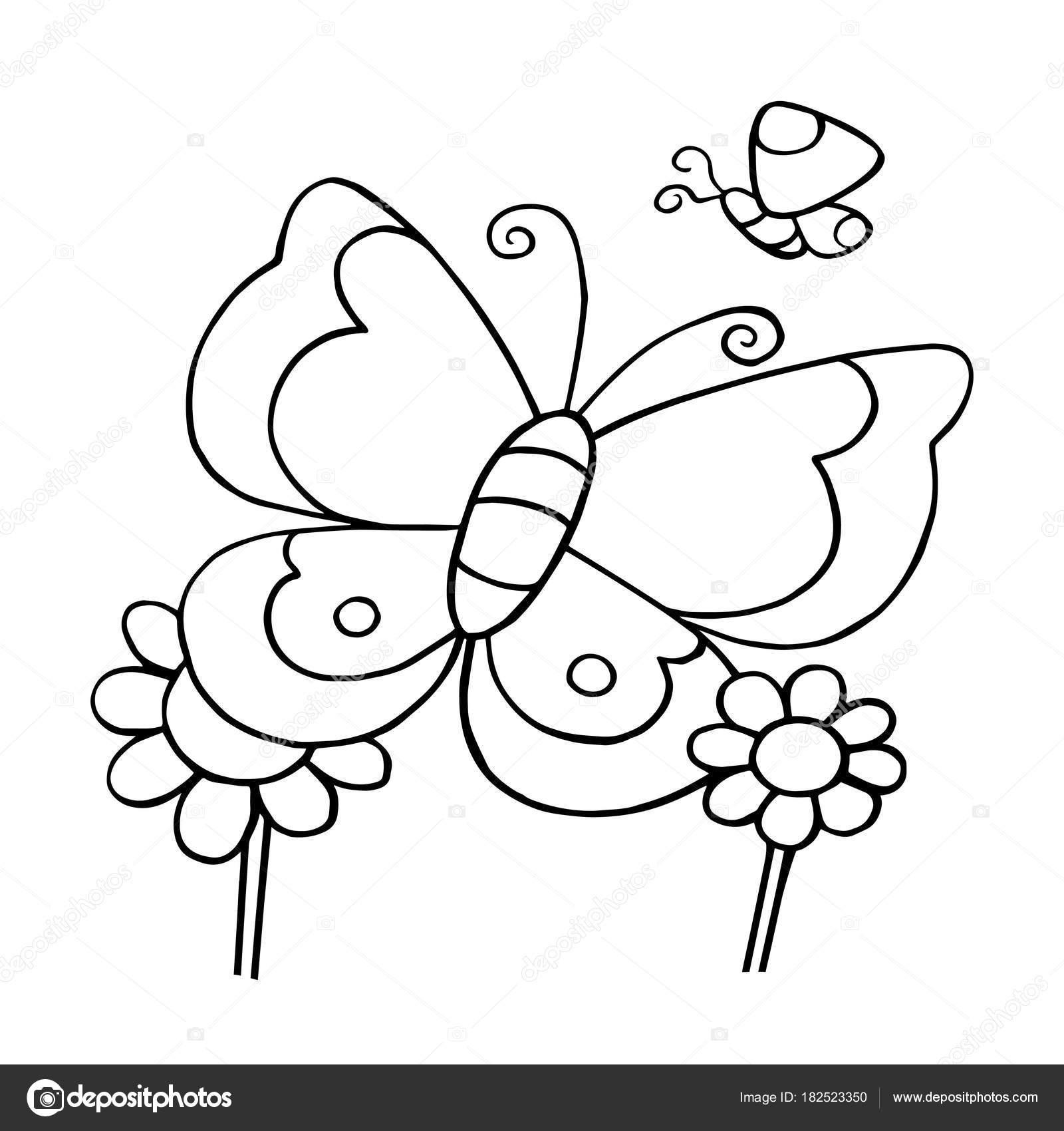 Selva Tropical Animada Para Colorear Estampados Mariposa Dibujos