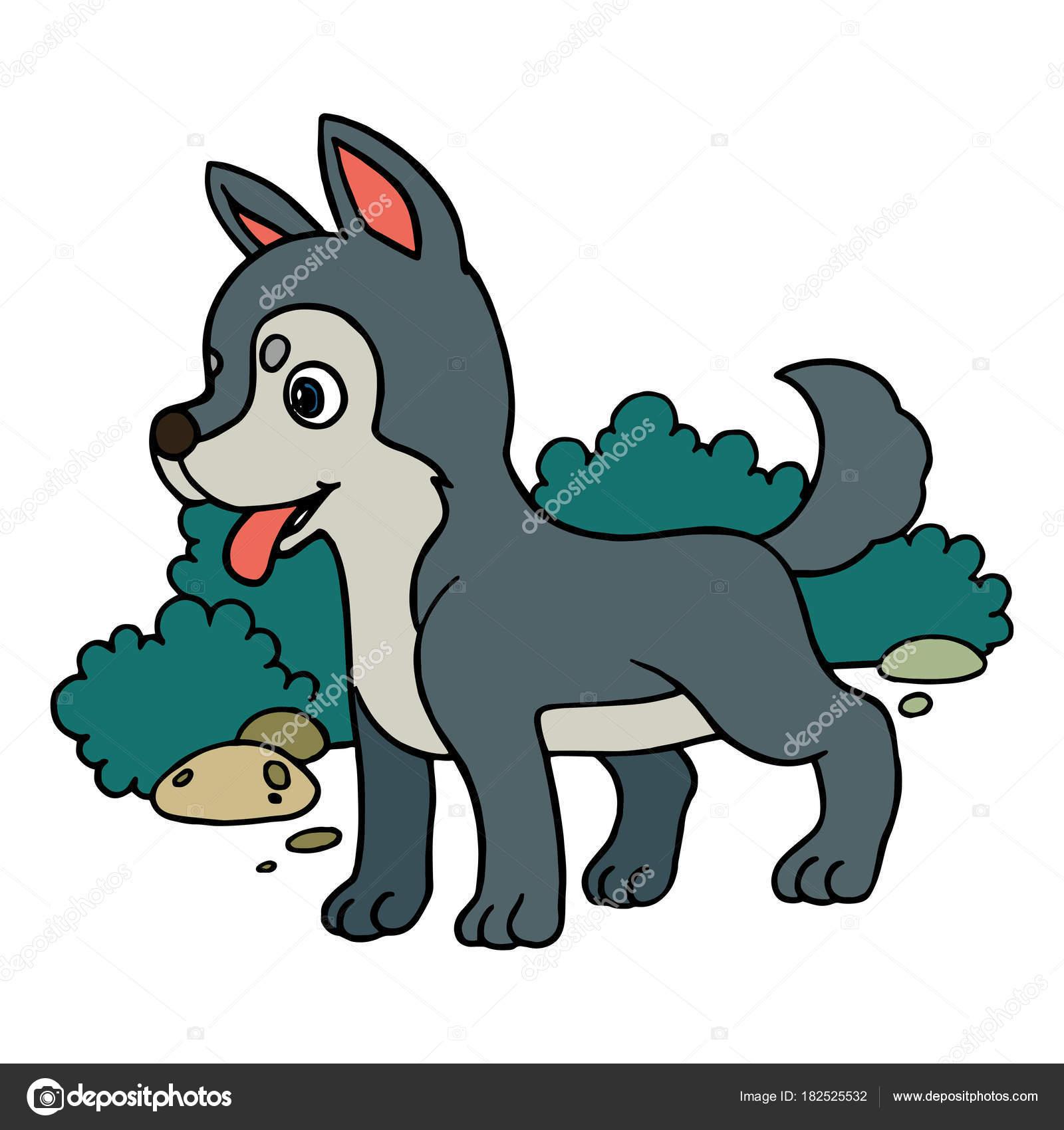 Animado Lobos Animados A Color Impresiones Lobo Dibujos Animados