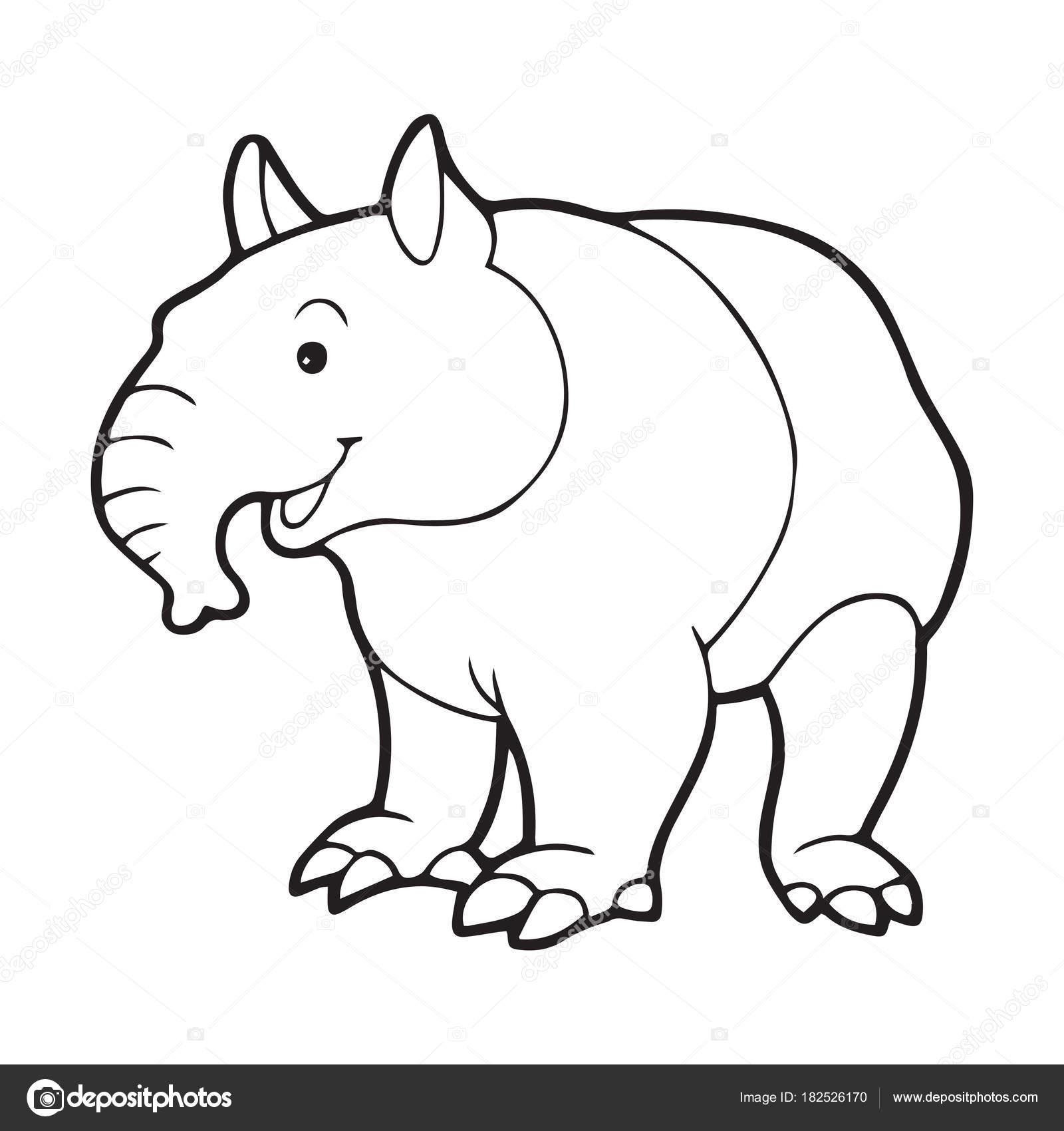 Sevimli çizgi Karınca Yiyen çocuk Için Beyaz Arka Plan üzerinde