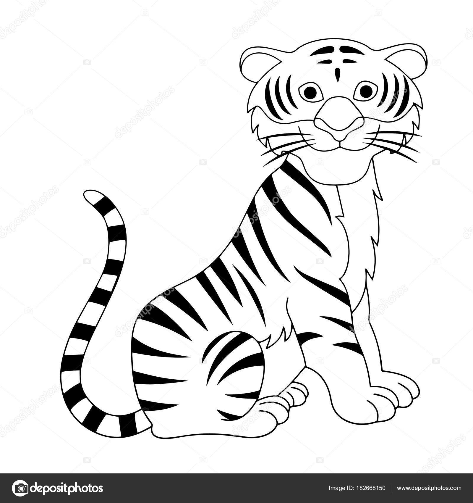 Dibujos Tigres Para Niños Estampados Tigre Dibujos