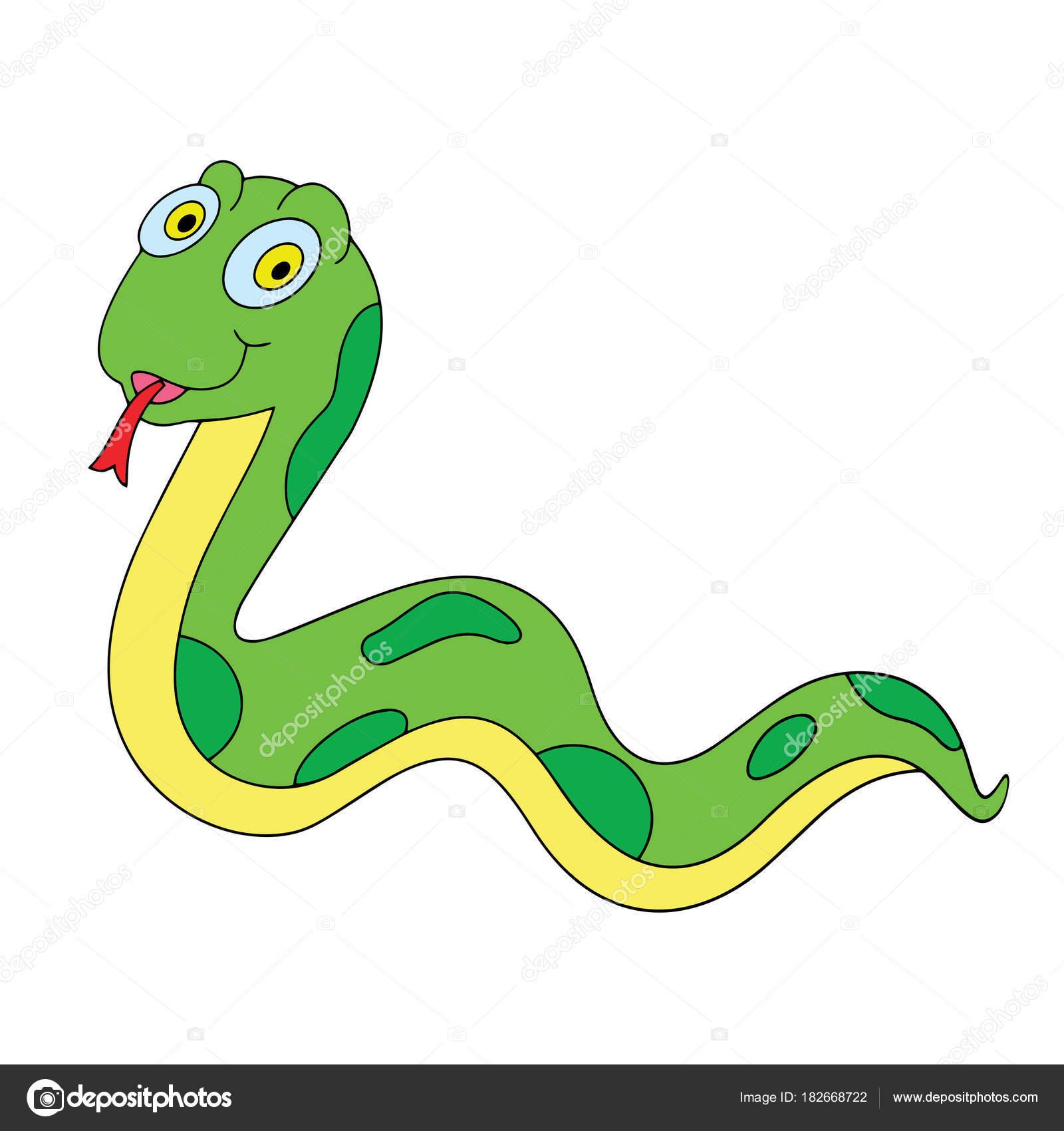 Dibujos Serpiente Estampados Serpiente Dibujos Animados Sobre