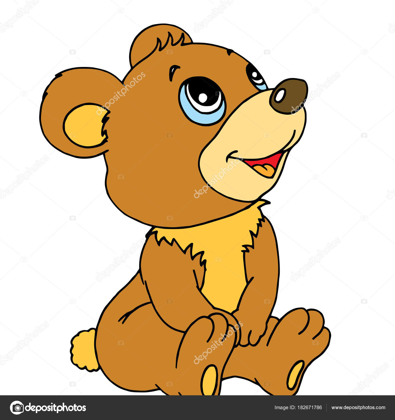 Картинки Медведь Нарисованные Для Детей
