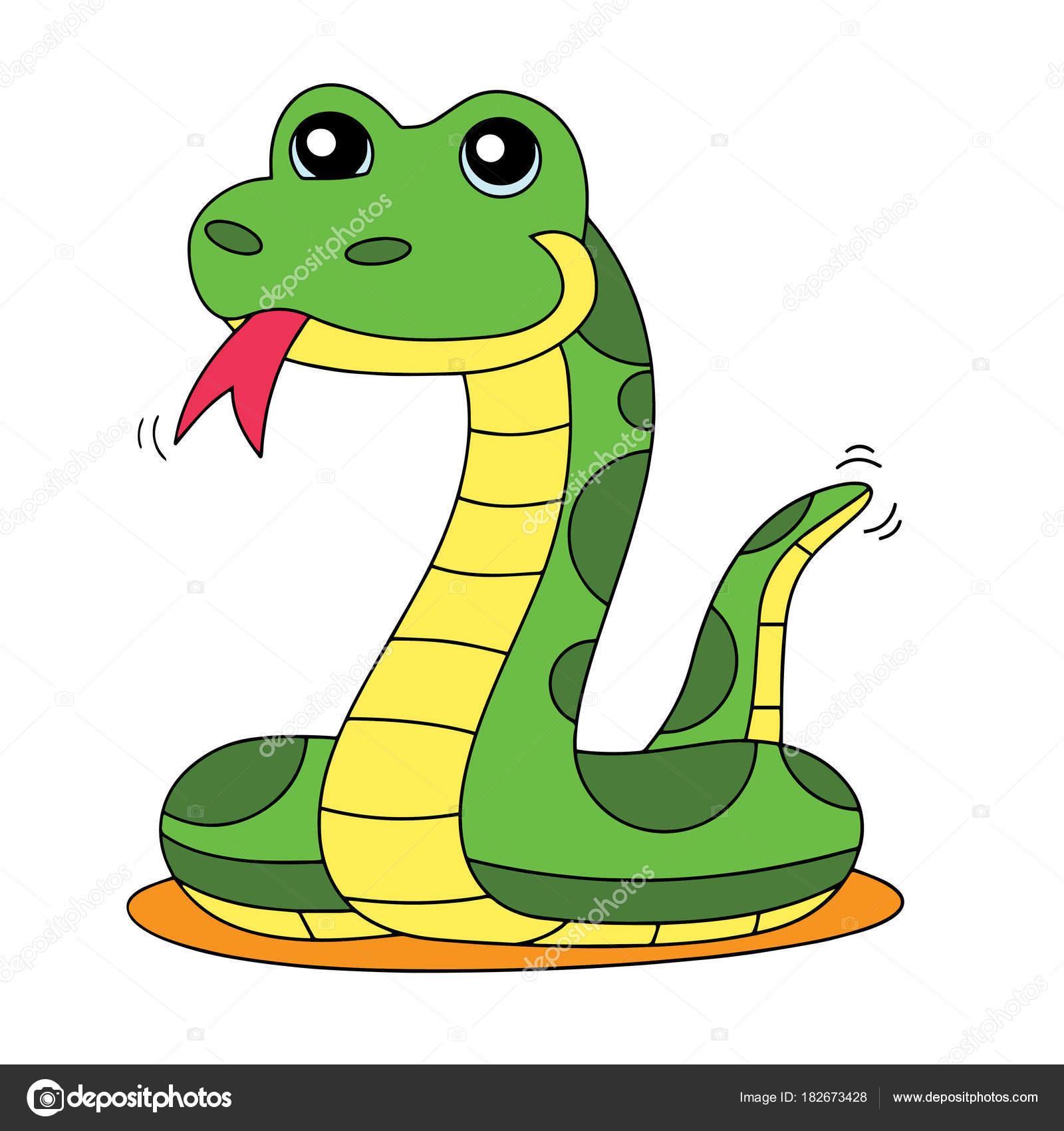 Dibujos Serpiente Dibujo Color Estampados Serpiente Dibujos
