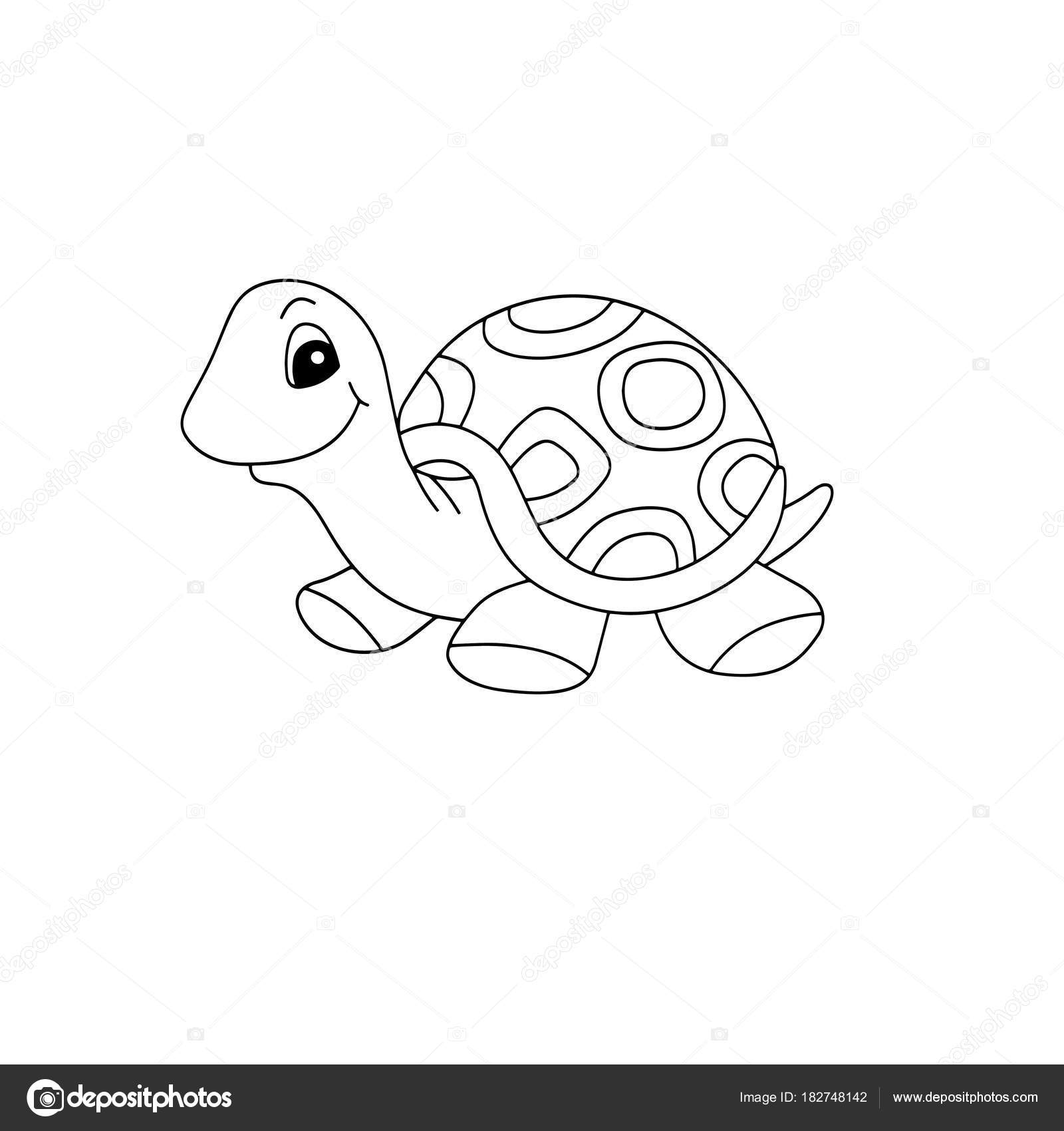 Cute Cartoon Turtle White Background Childrens Prints Shirt Color