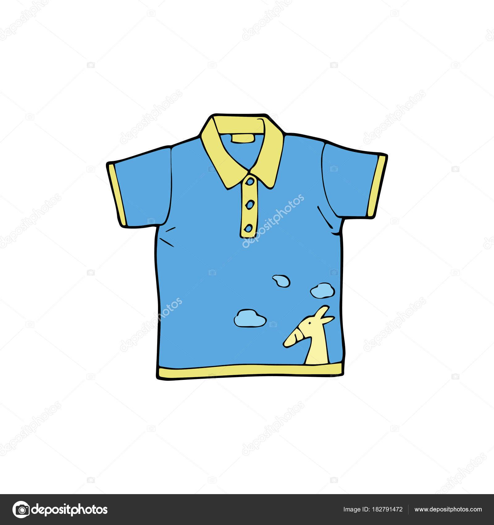 d2aa093caf266 Camisa Bonito Dos Desenhos Animados Sobre Fundo Branco Para Childrens —  Vetor de Stock