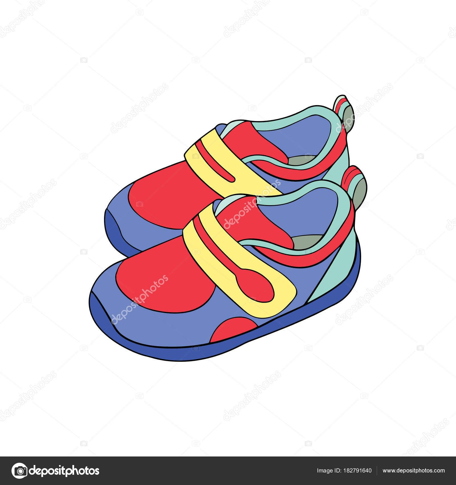 cute cartoon shoes white background childrens prints shirt color
