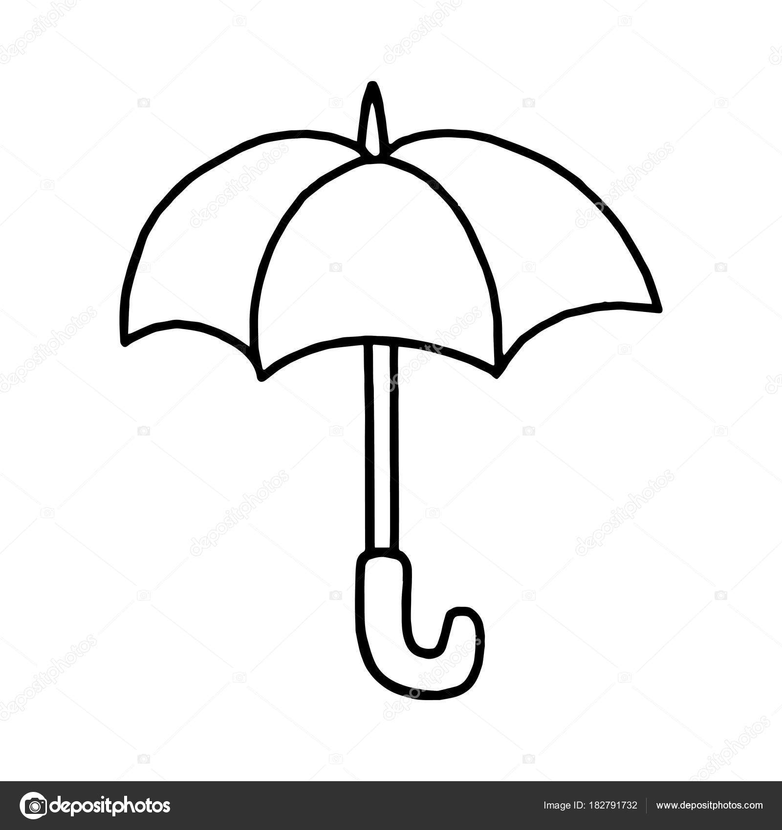 Cute Cartoon Umbrella White Background Childrens Prints Shirt Color