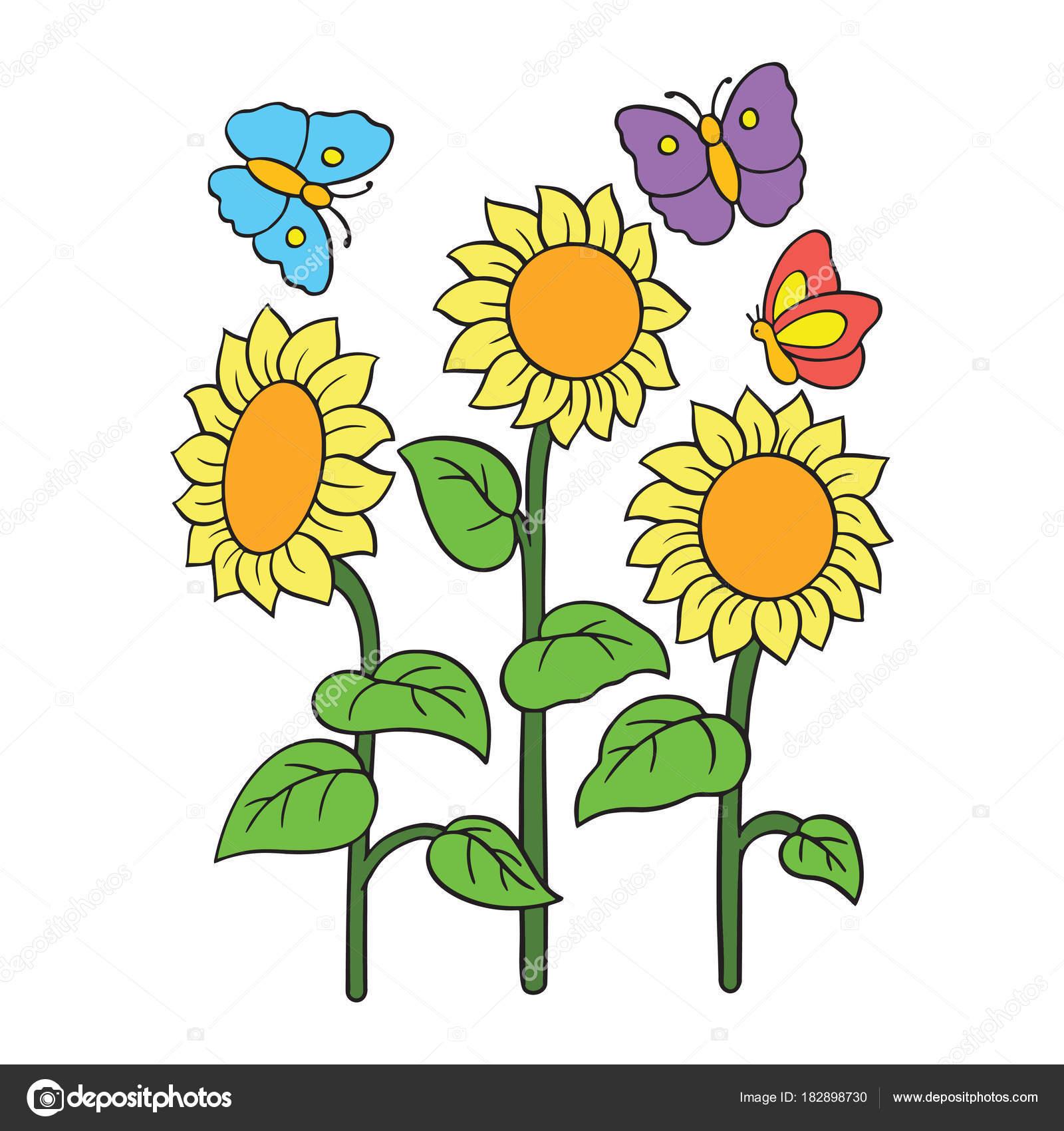 Imágenes Flores De Colores Para Niños Impresiones Flores Dibujos