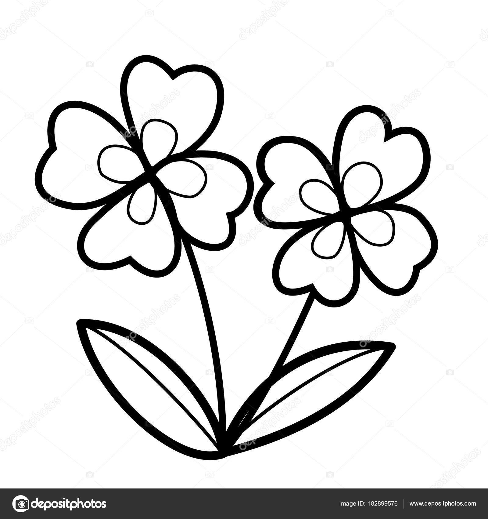 Cute Cartoon Flower White Background Childrens Prints Shirt Color