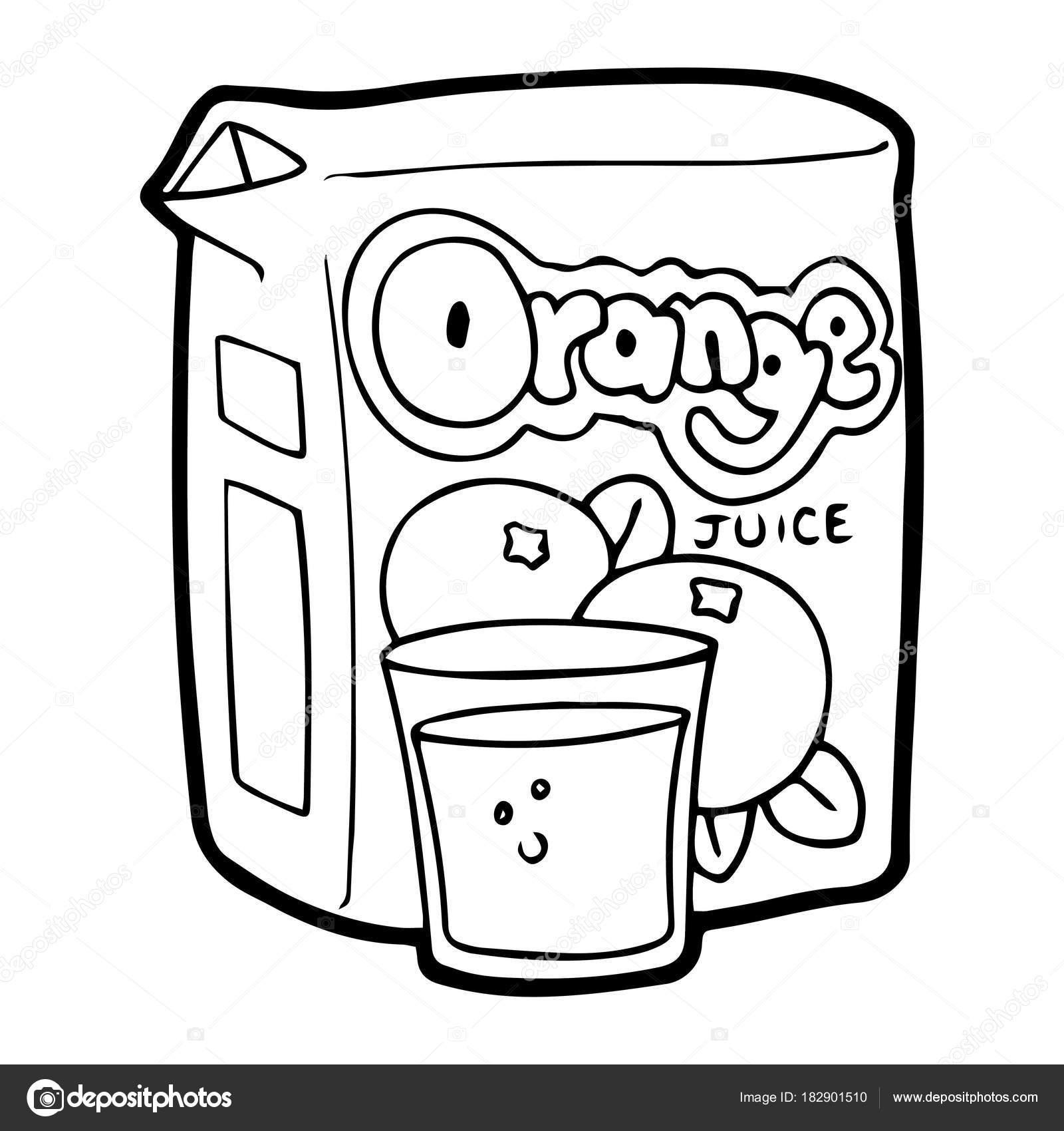 orange juice coloring pages - photo#26