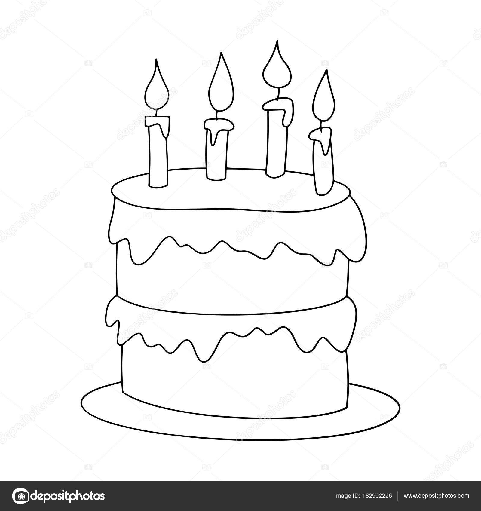 Animado: silueta de pastel para colorear | Impresiones Pastel