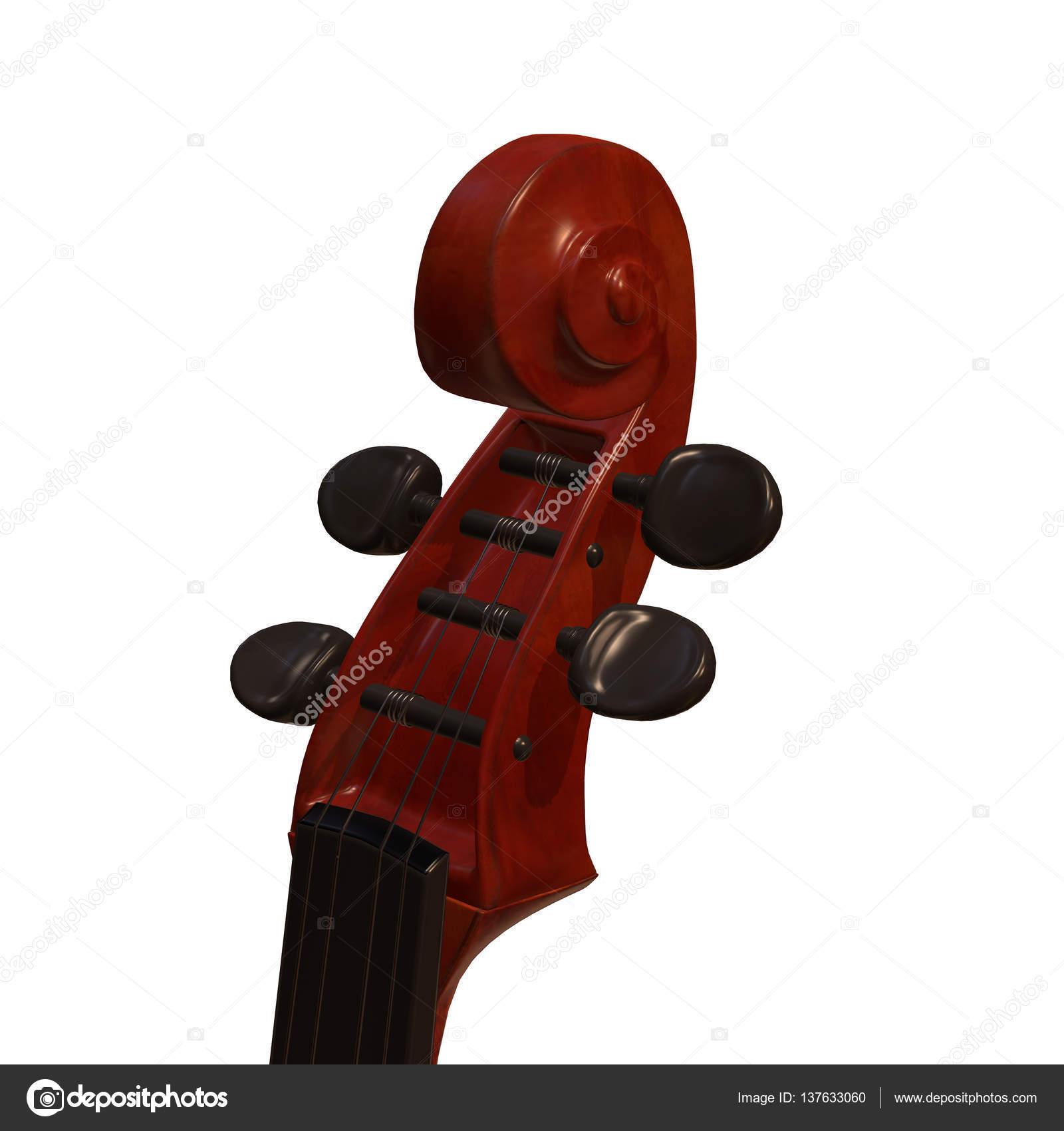 Ilustracion 3d De Violonchelo Instrumento Musical Foto De