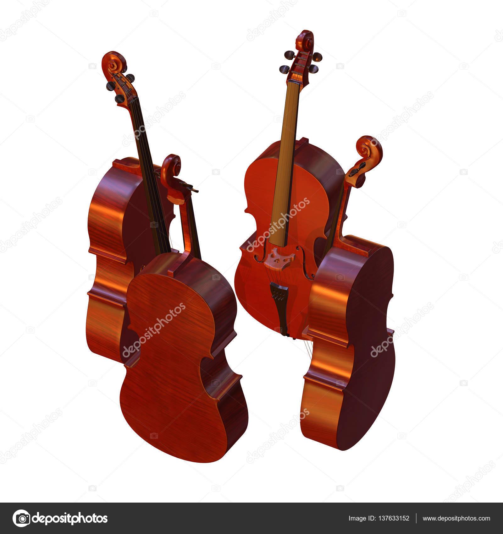 Ilustracao 3d Violoncelo Instrumento Musical Stock Photo
