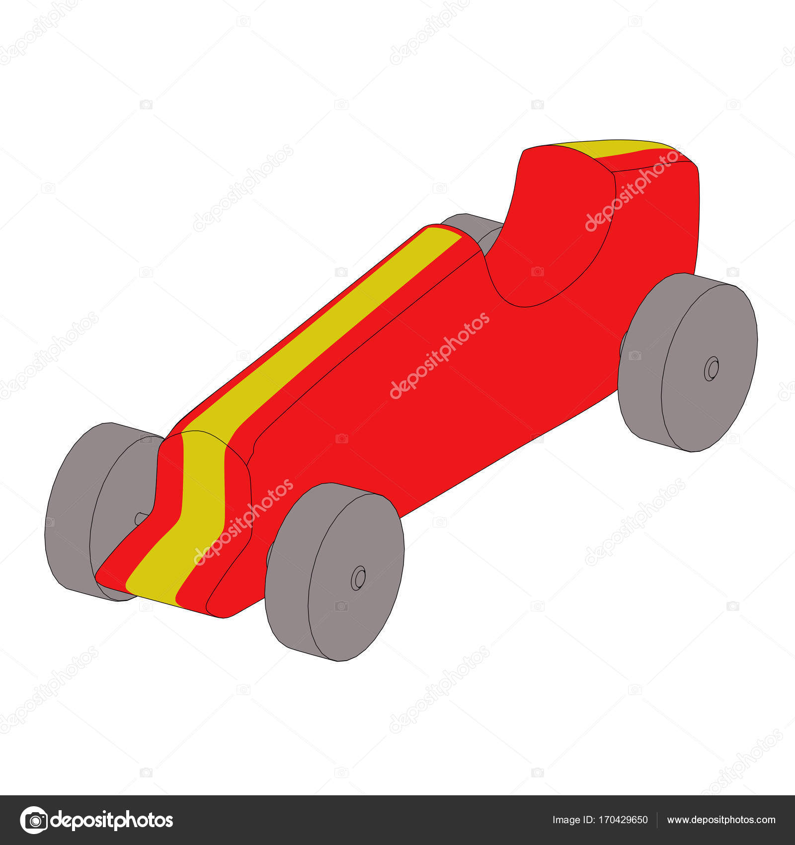Spielzeug Auto Umriss 3d illustration — Stockfoto © Deanora #170429650