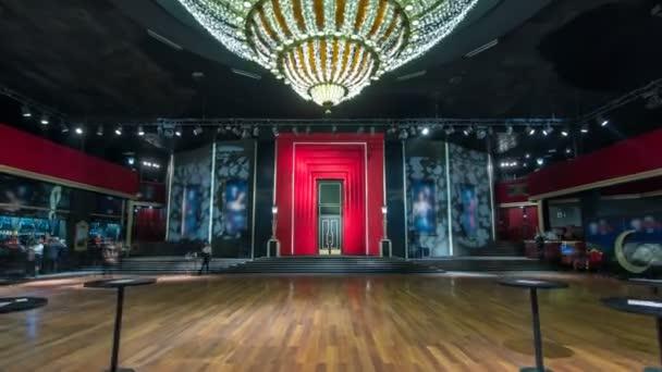 Beautiful elegant parquet hall in theatre timelapse hyperlapse