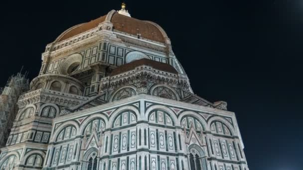 Basilica di Santa Maria del Fiore in Florence at night timelapse