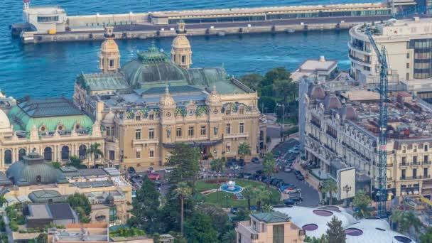 Panoráma města Monte Carlo, Monako denní na noční přechod timelapse