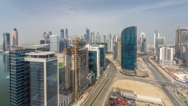 Hotel towers business bay na den čas letecké timelapse